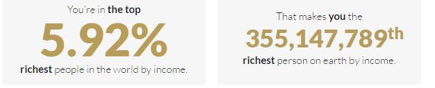 A gazdagság titka relatív